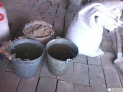 Ведро песка, полмешка опилок, два ведра воды...