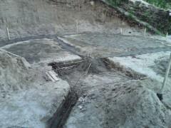 Заливаем фундамент под дом и печь
